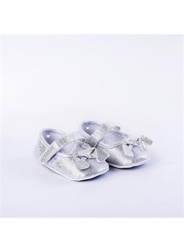 First Step Simli Patik Pembe Gümüş